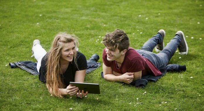 Online danskundervisning på græs